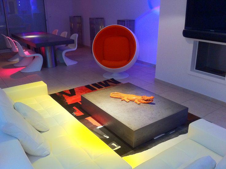 13 besten Wohnzimmer Bilder auf Pinterest Couchtisch beton - designer couchtisch glas prisma