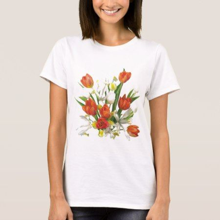 summer bouquet with tulips T-Shirt - click to get yours right now!
