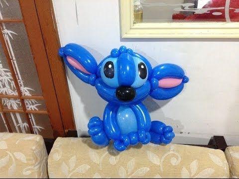 造型氣球 史迪奇 頭部 stitch balloon twisting part1 head