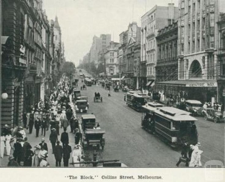 The block, Collins Street Melbourne, 1918