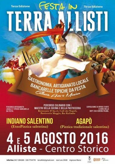 Ricca kermesse culturale giovedì 4 e venerdì 5 agostoGastronomia, artigianato locale, cultura, arte, musica e bancarelle tipicheda festa d...