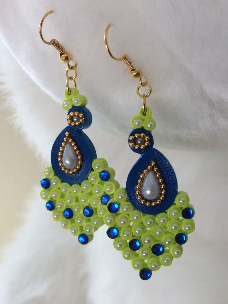 Quilling Earrings Designs Latest : Handmade Paper Quilled Jhumkas/Quilled by QuillingCollections Quilling: Jewelry Pinterest ...