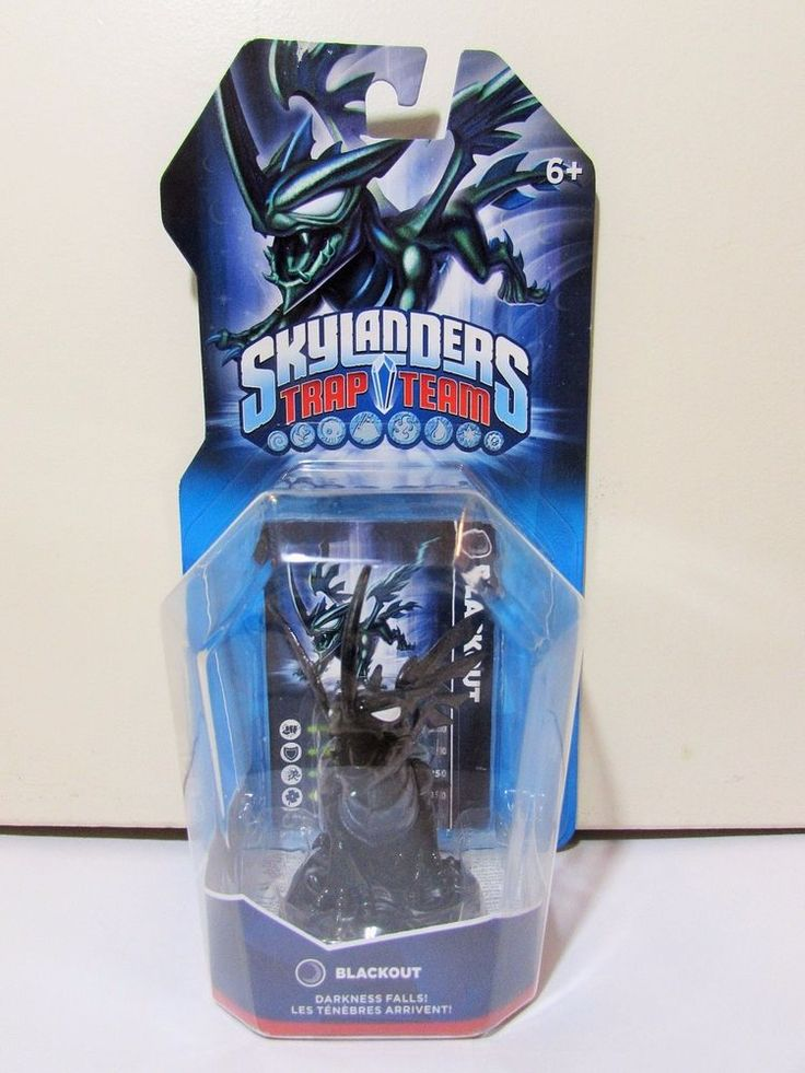 Skylanders Trap Team Blackout Dark Element Figure BNIB