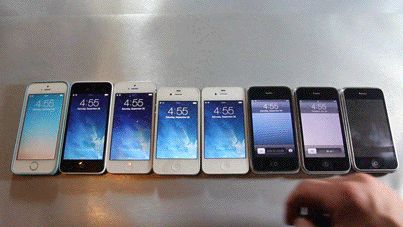 All the pretty phones in a row: | The 28 Most Satisfying Things That Have Ever Happened