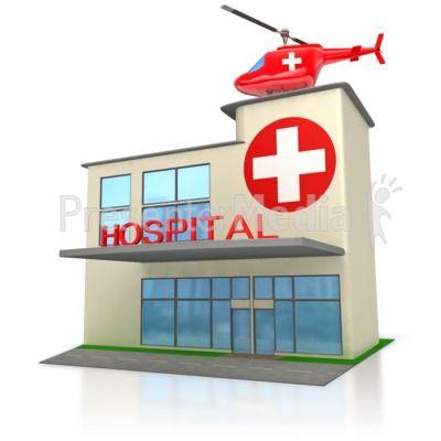 Medical Hospital Building  PowerPoint Clip Art