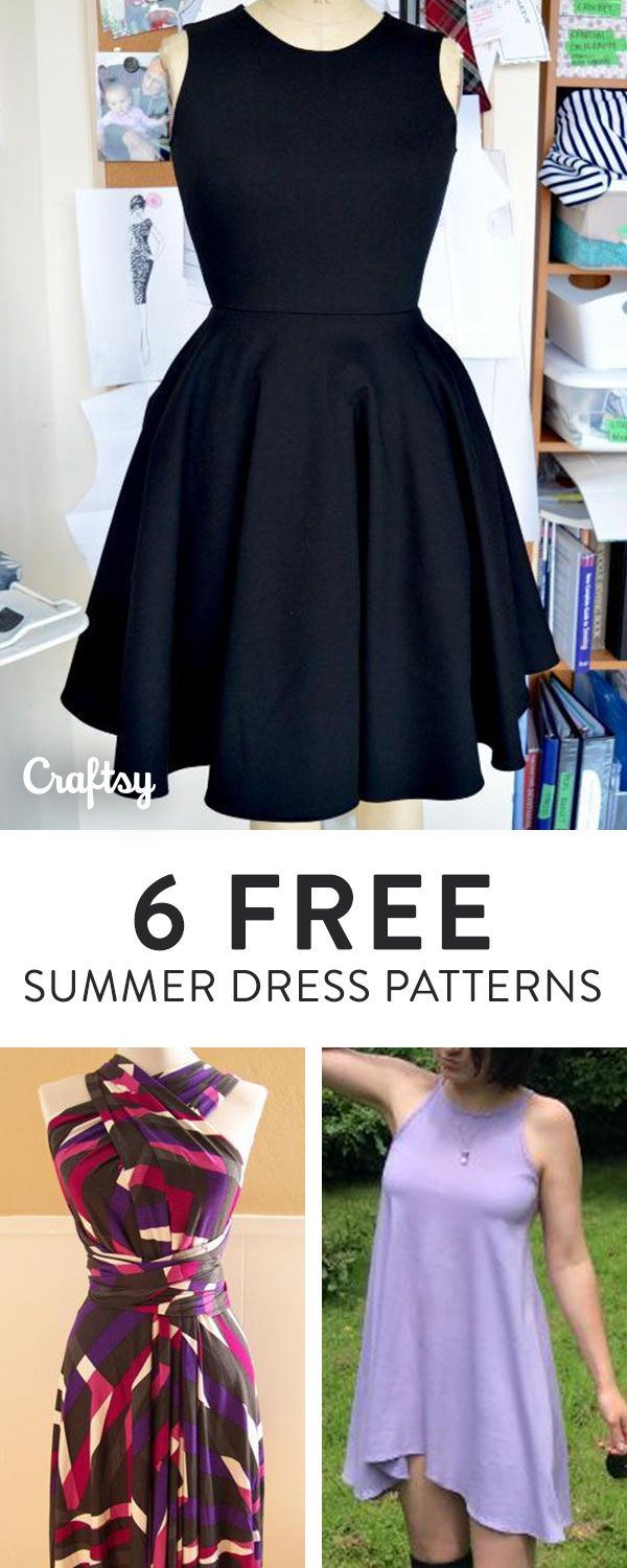 We found 6 free patterns for summery sun dresses to get your wardrobe ready for the season.