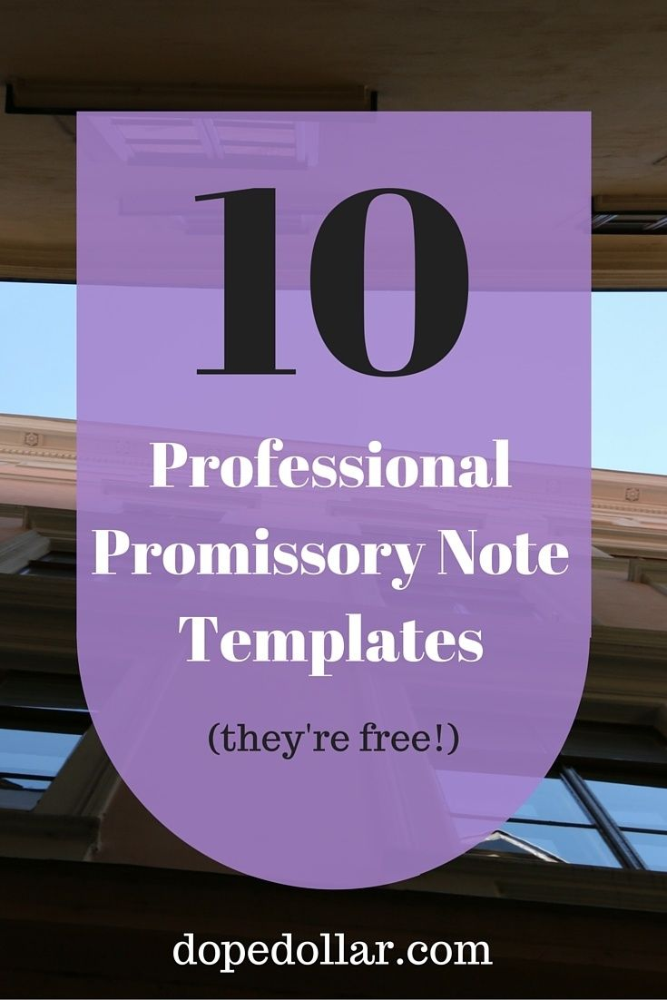 Best 25 Promissory note ideas – Demand Note Template