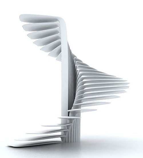 Parametric Spiral Stair based on a circle by Ali Torab