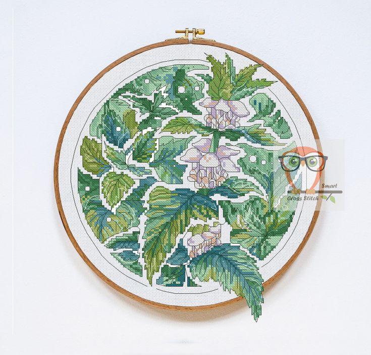 Nettle Botanica Even nettle looks beautiful when blossoming in sping. Stitch this floral pattern to decorate any textile piece or make an independent picture. The modern cross stitch flower pattern Nettle will underline your home interior adding some fresh green to the room. #floral #pattern #green #greenery #embroidery #crossstitch #contemporary #contemporarydesign #flower #SmartCrossStitch