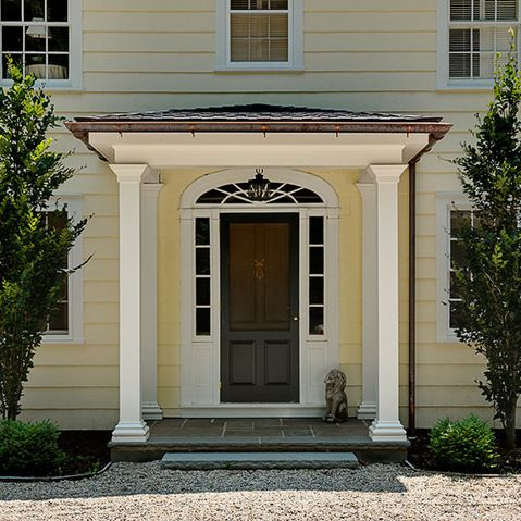 Portico columns design ideas pictures remodel and decor for Colonial front porch ideas