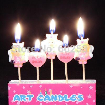 Принцесса стиль творческий бездымного торт ко дню рождения свечи письма свечи творческий торт свечи ну вечеринку украшения