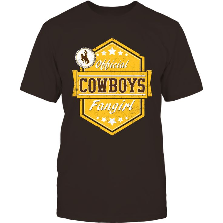 Official Cowboys Fangirl - University of Wyoming T-Shirt, Officially Licensed Exclusive Design Join the University of Wyoming fan elite with this fun Official Cowboys Fangirl design. Makes a great gift for super fans of the Wyoming Cowboys! Not Available in Stores!  The Wyoming Cowboys Collection, OFFICIAL MERCHANDISE  Available Products:          Gildan Unisex T-Shirt - $25.95 Gildan Women's T-Shirt - $27.95 District Men's Premium T-Shirt - $27.95 District Women's Premium T-Shirt - $29.95…
