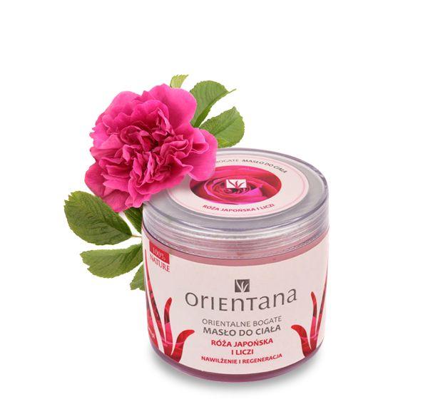 Orientana Orientalne Bogate Masło do Ciała Róża japońska Liczi - Nieprzyzwoicie naturalny sklep dla kobiet lubiących siebie