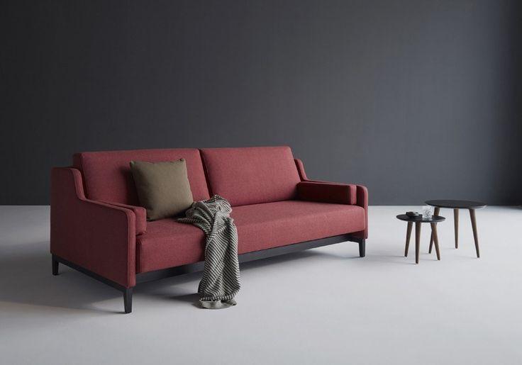 Innovation Hermod Sovesofa Rust rød - 160x200 cm - Gratis fragt