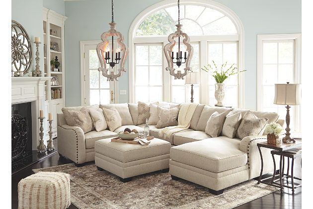 Luxora 4 Piece Sectional With Chaise Large Sectional Sofa Decor Living Room Sectional Living Room Sofa