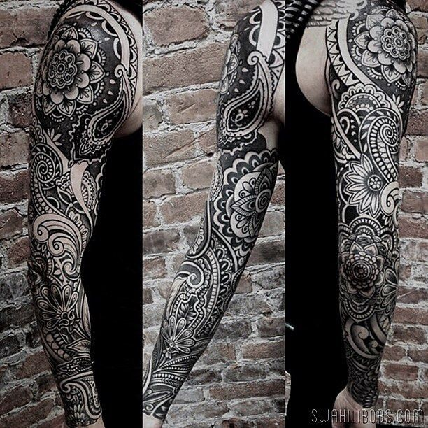Sleeve by Ion @ionrosgrim some healed some fresh. Respect to Lars for the dedication and trust. #blackwork #tattoo #tatuering #stockholm #södermalm