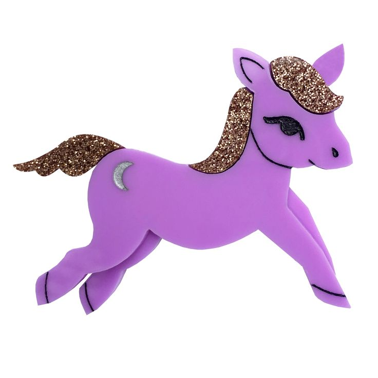 LEGGY PEGGY PONY brooch by Louisa Camille