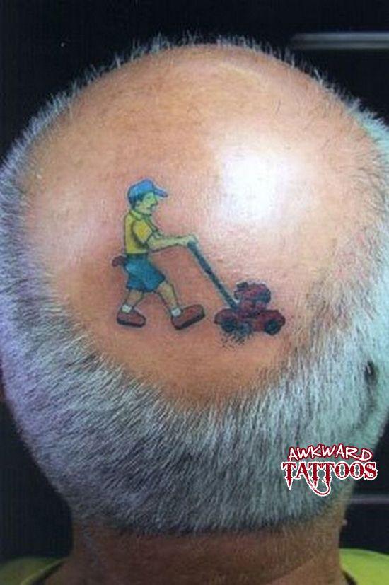 Lawn Mower Tattoo