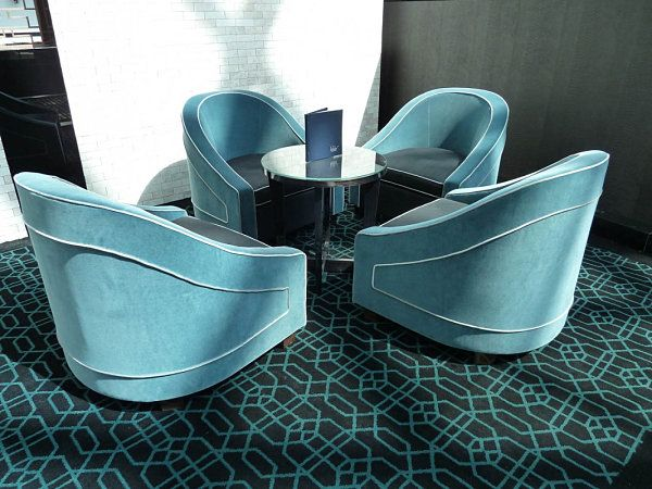 Art Deco Influenced Contemporary Tub Chairs. Maybe it's because their curved shape channels Deco style at its finest.