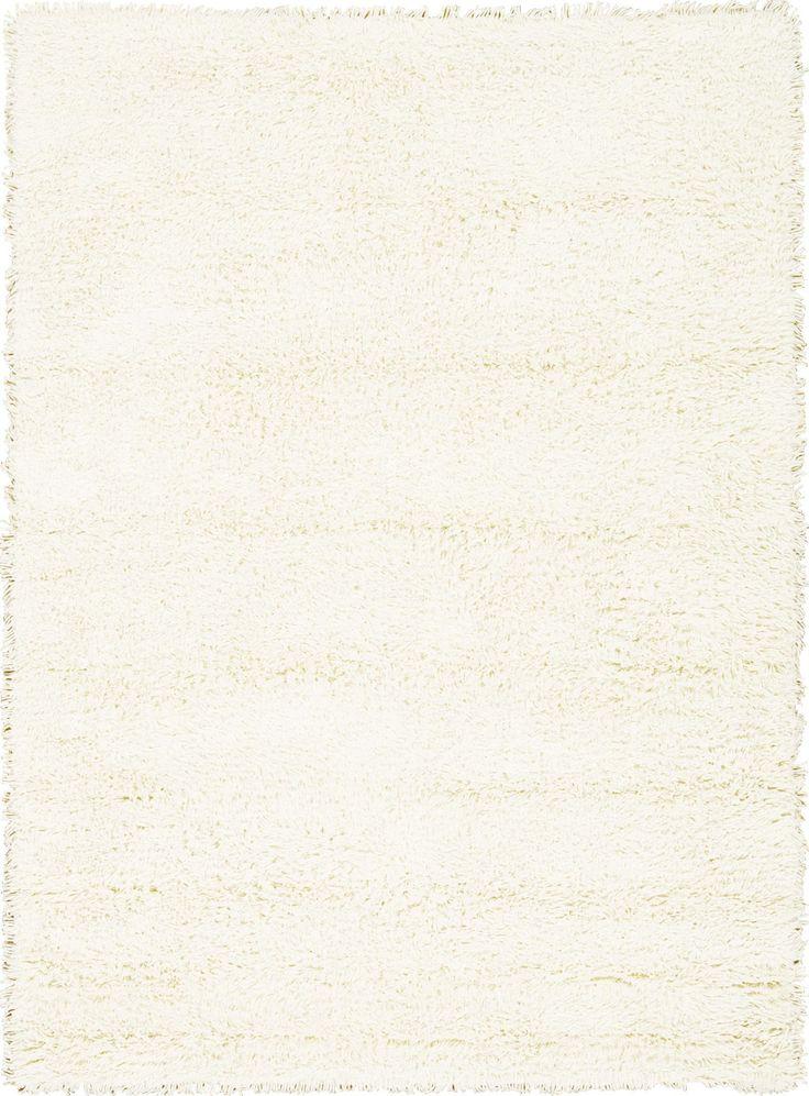 Splendor White Shag Area Rug 5' x 7'