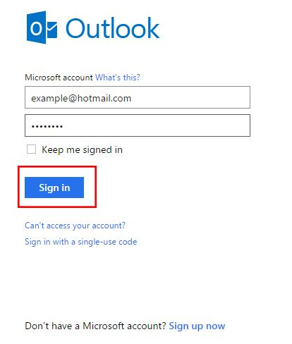 how to make a hotmail email account