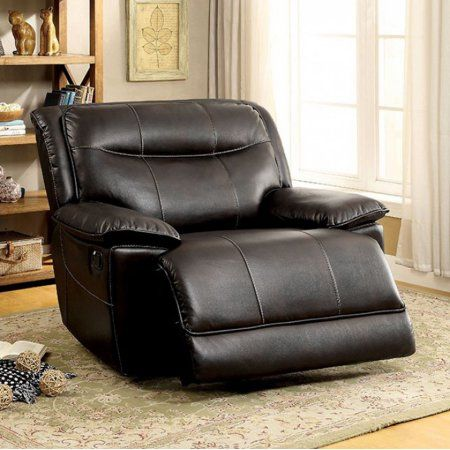 Danika Transitional Glider Recliner, Brown Finish