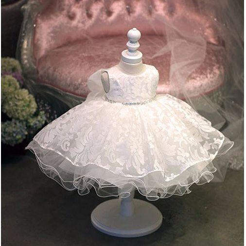 Летом 1 года рождения девочки платья принцесса свадьба платье девушки Платье крещение Крещение детей платья для девочек