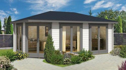 5-Eck Gartenhaus Julia-40 ISO