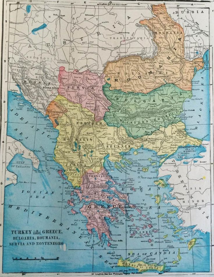1902 Map of the Balkans