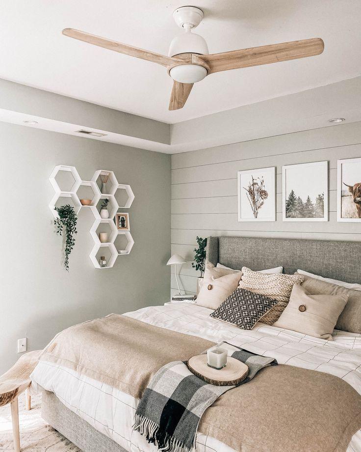 Bedroom Decor Updates + New Fan  Neutral bedroom decor, Master