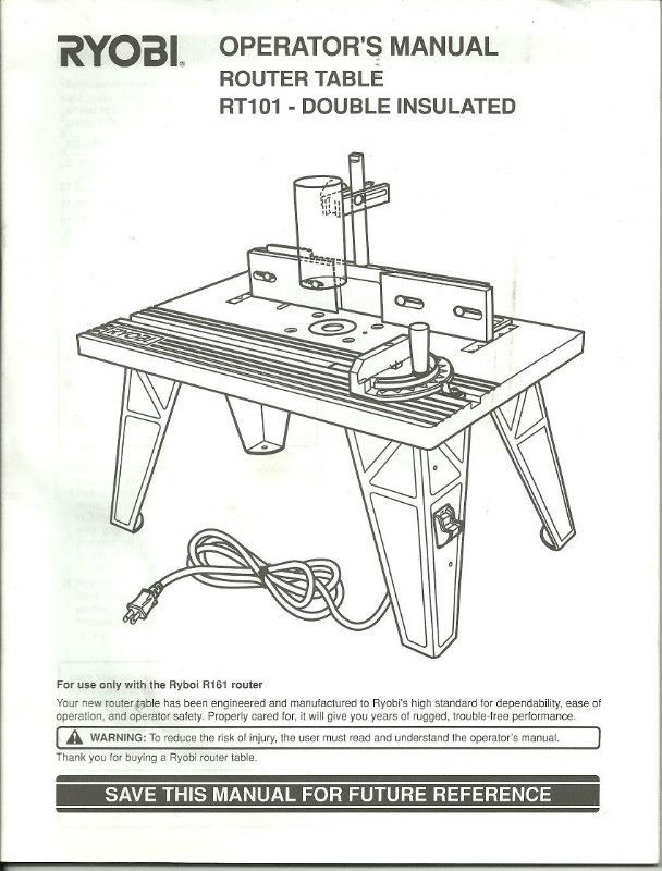 Best 25 ryobi router table ideas on pinterest ryobi router operators manual ryobi rt101 router table pn 983000 134 8 02 paperback listing in greentooth Choice Image