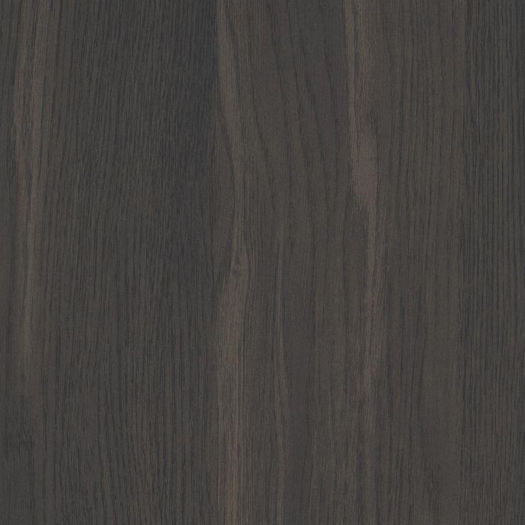 BOTTEGA OAK WOODMATT - A yellow-based near-black coloured oak with wide, distinct, black oak wood grain features throughout