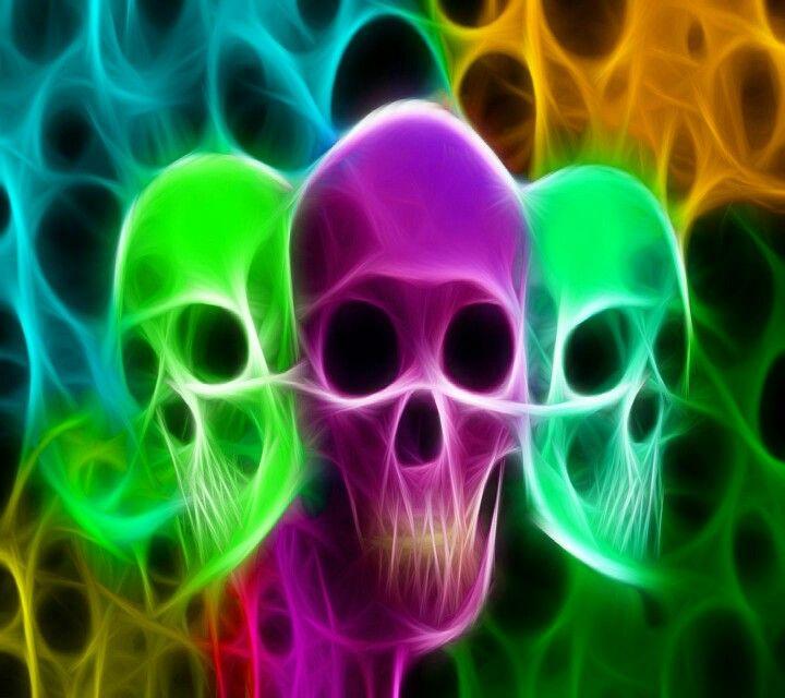 skull wallpaper 133 colorful - photo #33