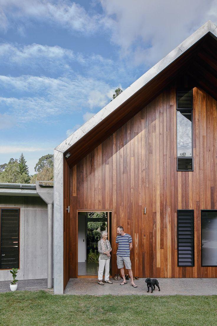 Two Barn-Like Volumes Make Up This Low-Maintenance Australian Home #dwell #barn …