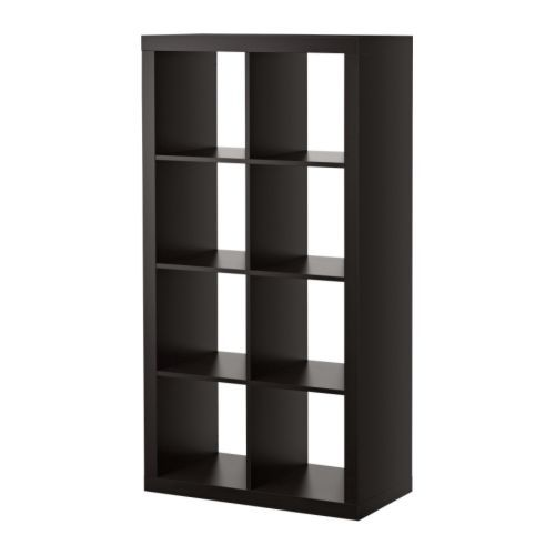 the best storage unit ever! we have it laid out horizontally in our playroom, with 4 fabric bins to hide all the mess. i mean, lovely toys. #ikea $69.99