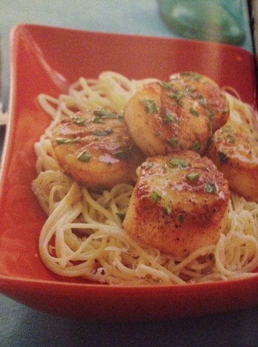 Scallops with Lemon-Basil Sauce from Cooking Light