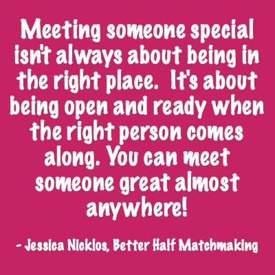 "Dating advice for those who ask ""Where is the best place to meet single men/women?"" from Jessica Nicklos at Better Half Matchmaking"