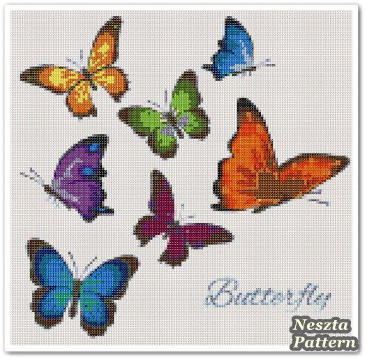 Excited to share the latest addition to my #etsy shop: Butterfly Cross Stitch Pattern, Butterfly x stitch pattern, Cross stitch Embroidery, Embroidery pattern http://etsy.me/2A1JGWp #supplies #crossstitch #embroidery #crossstitchpattern #tutorial #diy #xstitch #aidaclo