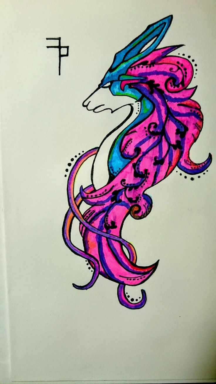 Suicune with Edding :D  Painted by my self.