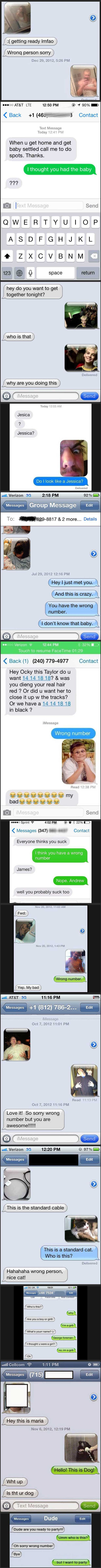 "Some great responses to ""wrong number"" text messages."
