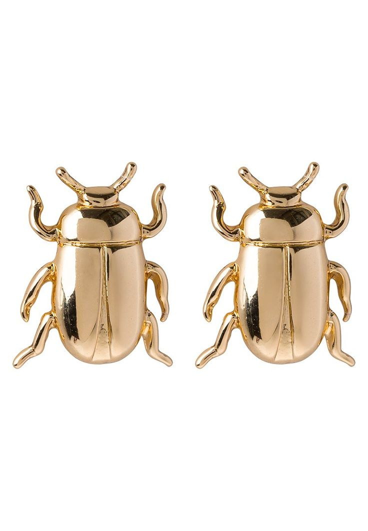 Banana Republic BEATLE STUDS Kolczyki żuczki goldcoloured