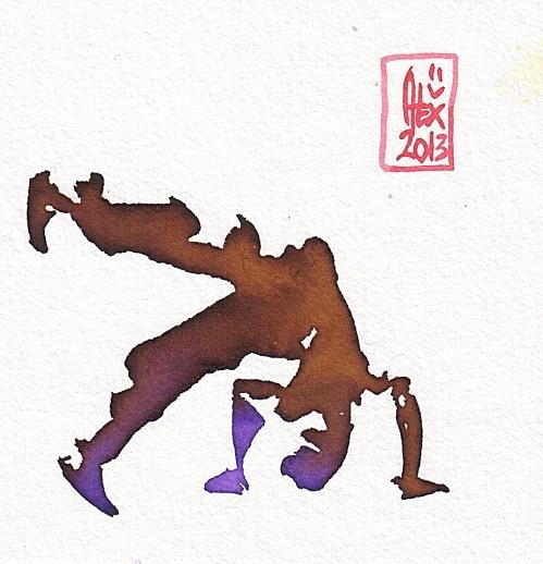 Encres : Capoeira - 232 [ #capoeira #watercolor #illustration ]