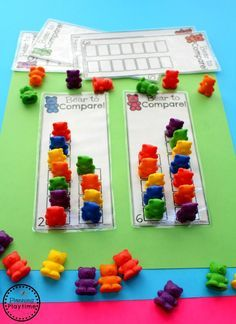 Fun comparing number activity for kindergarten