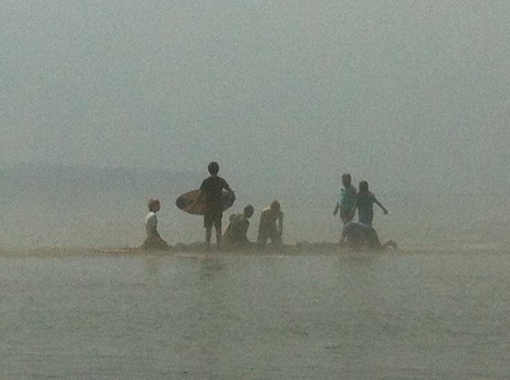 Sandcastles and skim boarding in the fog at East Beach  #SummerInSurrey #SurreyBC