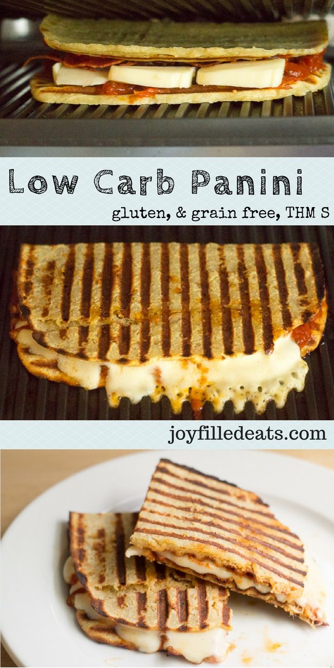 Low Carb Panini! Recipes for a Turkey Cheddar Chipotle Panini & a Pepperoni Pizza Panini. Grain Free, THM S, Gluten Free, Keto.