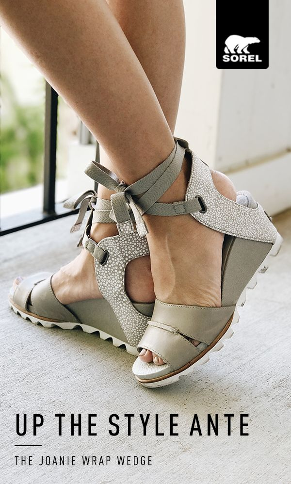 It's all in the details when it comes to the Joanie™ Wrap Wedge. A two-tone full grain leather upper rests atop our most comfortable wedge, while a cotton webbed ankle strap with ties adds a touch of runway whimsy. Up the style ante at SOREL.com.