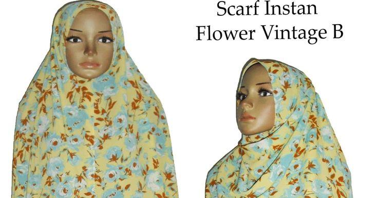 grosir borong murah pashmina instan instant motif bunga souvenir pengajian hijab langsung pakai