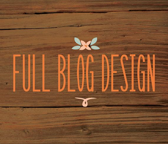 blogger designer Full Blog DesignFrenchPressMornings on Etsy