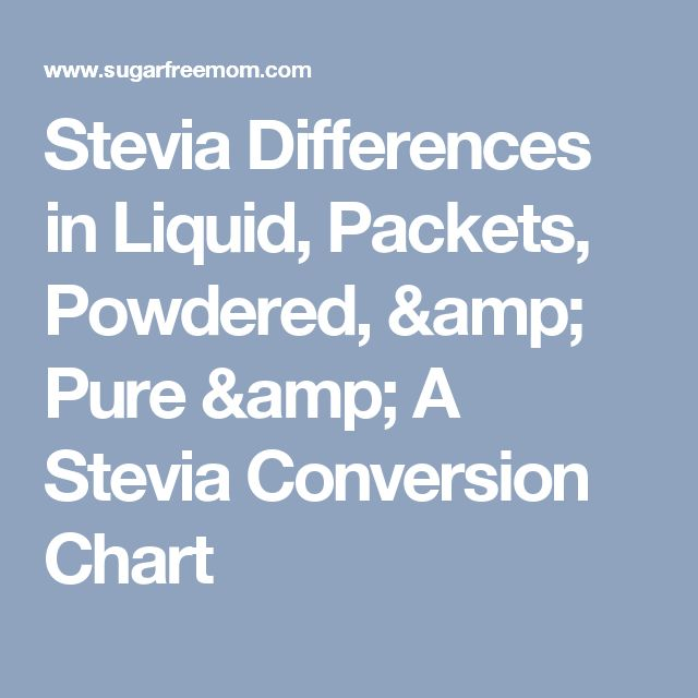Stevia Differences in Liquid, Packets, Powdered, & Pure & A Stevia Conversion Chart