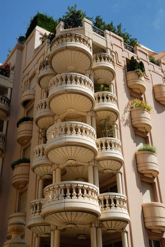 Monaco ~ apartments with fabulous balconies and incomparable architecture!